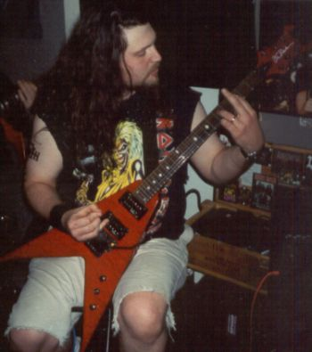Stacey Doing Guitars For The Album Dark Ascension